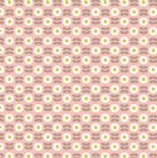 Lewis & Irene - Love Me Love Me Not - 5853 - Rows of Daisies, Taupe on Pink - A274.3 - Cotton Fabric